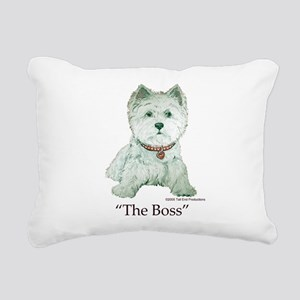 The Boss 6x6 Clear Rectangular Canvas Pillow